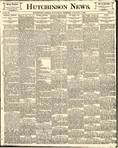 Hutchinson News, October 08, 1890, Page 1
