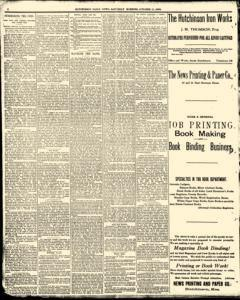 Hutchinson News, October 11, 1890, Page 1