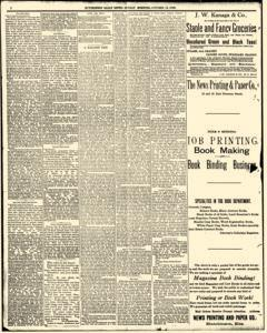 Hutchinson News, October 12, 1890, Page 1