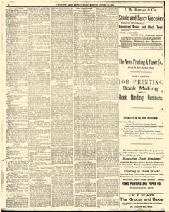 Hutchinson News, October 28, 1890, Page 1