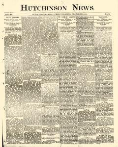 Hutchinson News, December 09, 1890, Page 1