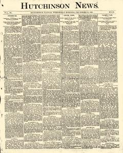 Hutchinson News, December 10, 1890, Page 1