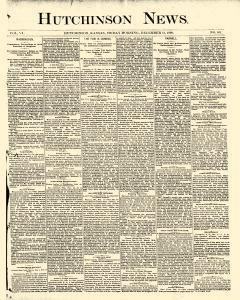 Hutchinson News, December 12, 1890, Page 1