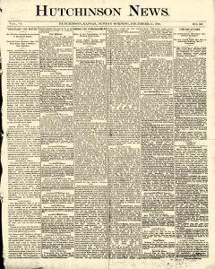 Hutchinson News, December 14, 1890, Page 1