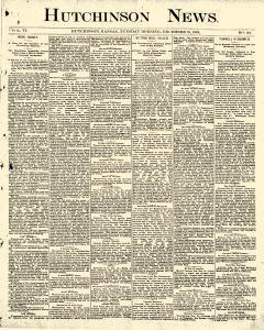 Hutchinson News, December 16, 1890, Page 1