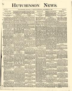 Hutchinson News, December 25, 1890, Page 1