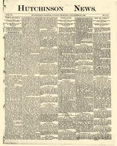 Hutchinson News, December 28, 1890, Page 1