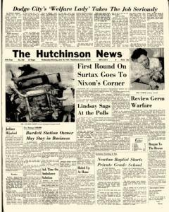 Hutchinson News, June 18, 1969, Page 1