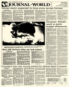 Lawrence Journal World, December 10, 1985, Page 1