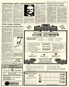 Lawrence Journal World, February 04, 1986, Page 20