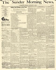 Lawrence Morning News, January 13, 1884, Page 1