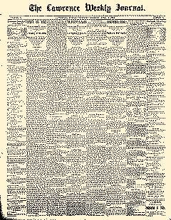 Lawrence Weekly Journal, April 05, 1888, Page 1