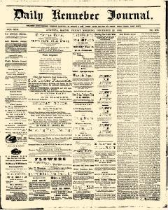 Daily Kennebec Journal, December 22, 1882, Page 1