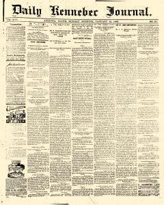 Daily Kennebec Journal, January 12, 1885, Page 1
