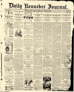 Daily Kennebec Journal, November 21, 1898, Page 1