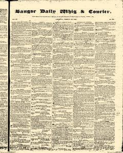 Bangor Daily Whig And Courier, August 14, 1837, Page 1