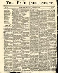 Bath Independent, February 07, 1880, Page 1