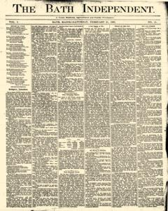Bath Independent, February 21, 1880, Page 1