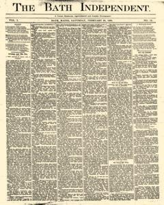 Bath Independent, February 28, 1880, Page 1
