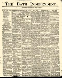 Bath Independent, March 20, 1880, Page 1