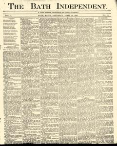 Bath Independent, April 10, 1880, Page 1