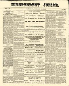 Independent Junior, October 13, 1883, Page 1