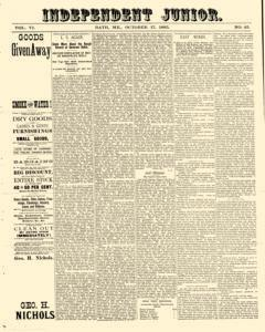 Independent Junior, October 17, 1885, Page 1