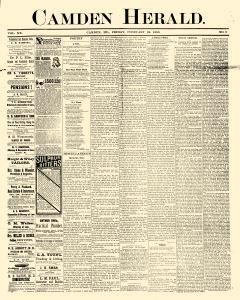 Camden Herald, February 24, 1888, Page 1