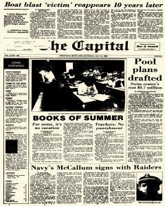 Annapolis Capital, July 12, 1986, Page 1