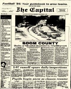 Annapolis Capital, September 03, 1986, Page 1