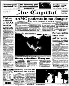 Annapolis Capital, February 15, 1995, Page 1