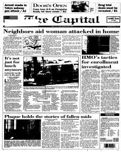Annapolis Capital, May 15, 1995, Page 1