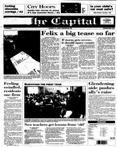 Annapolis Capital, August 17, 1995, Page 1