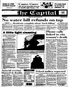 Annapolis Capital, August 30, 1995, Page 1