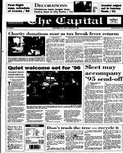 Annapolis Capital, December 30, 1995, Page 1