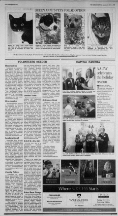 Annapolis Sunday Capital, January 13, 2013, Page 23