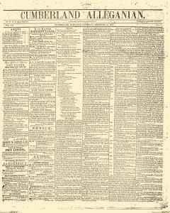 Alleganian, December 13, 1845, Page 1