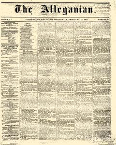 Alleganian, February 15, 1865, Page 1