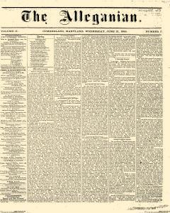 Alleganian, June 21, 1865, Page 1