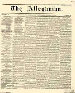 Alleganian, August 16, 1865, Page 1