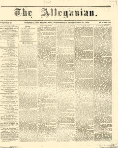 Alleganian, September 20, 1865, Page 1