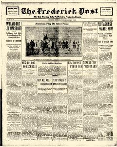 Frederick News Post, January 17, 1918, Page 1