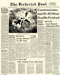 Frederick News Post, September 07, 1967, Page 1