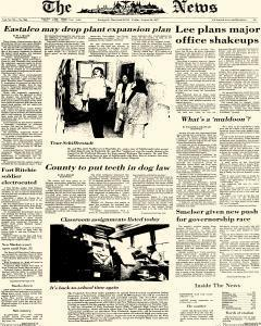 News, August 26, 1977, Page 1