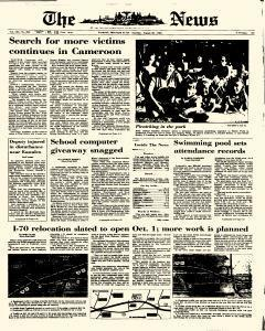 News, August 26, 1986, Page 1