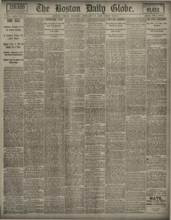 Boston Daily Globe, February 26, 1886, Page 1