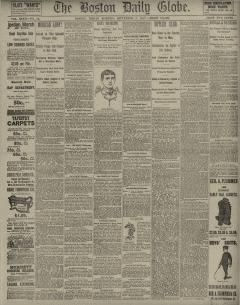 Boston Daily Globe, September 02, 1887, Page 1