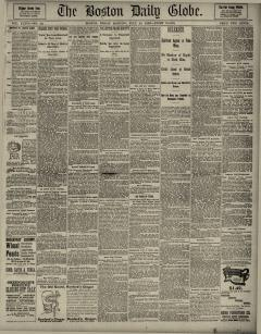 Boston Daily Globe, July 12, 1889, Page 1
