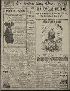 Boston Daily Globe, March 11, 1898, Page 1