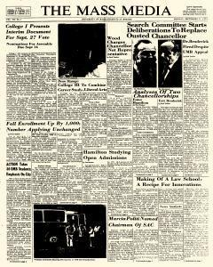 Mass Media, September 11, 1972, Page 1